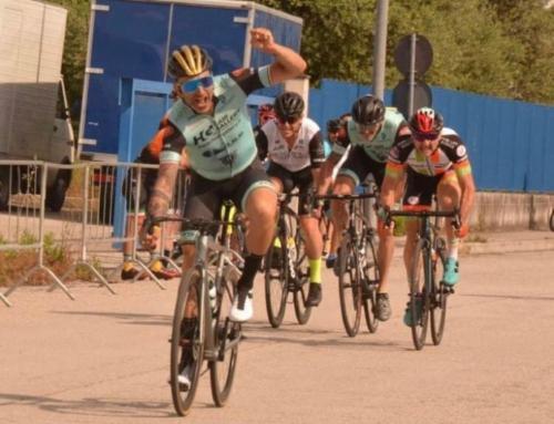 """Carlini, Corradetti e Scatozza: """"tris"""" di braccia levate in segno di vittoria per l'HG Cycling Team"""