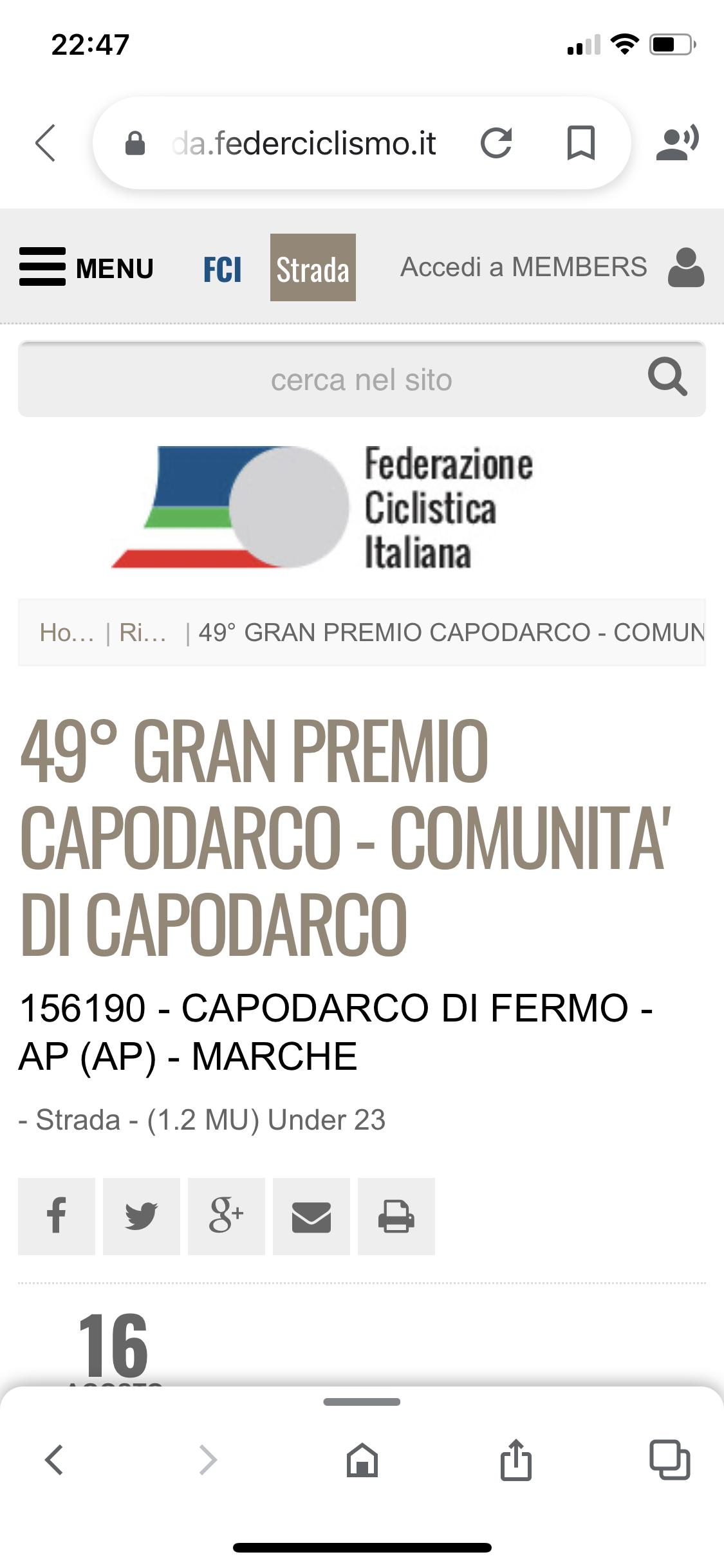 49° G.P. Di Capodarco 1